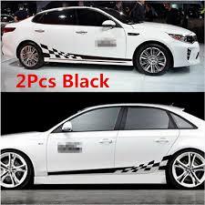 Universal 2pcs Car Side Body Vinyl Decal Sticker Sports Racing Race Car Decals Ebay