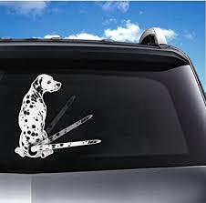 Amazon Com 3d Car Rear Window Decals For Dalmatian Dog Tancredy Car Stickers Cartoon Funny Moving Tail Stickers Rear Windshield Window Wiper Decals Funny Vinyl Decal Sticker Car Styling Decor Sticker Arts Crafts Sewing