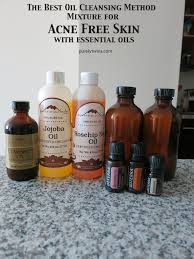 oil cleansing method mixture for acne