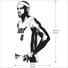 Lebron James Miami Heat Vinyl Wall Art Decal