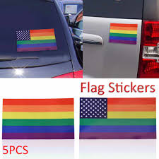 5pcs Lot Rainbow Flag Wall Stickers Colored Stripes Car Refrigerator Suitcase Glass Lgbt Stickers Decals 6 5 11 5 Cm Wall Sticker Sticker Decalsticker Color Aliexpress