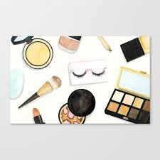 makeup canvas print by newburydesigns