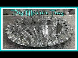 home goods inspired bling mirror tray