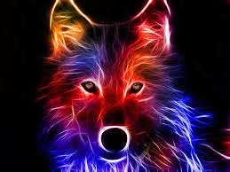 neon wolf wallpapers top free neon