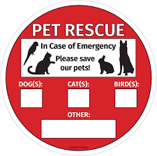 Amazon Com Save Our Pets Sign Emergency Pet Rescue Inside Window Static Cling Decal Easy To Remove And Reposition 5 X 5 In 1 Kitchen Dining