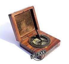 sundial wooden box gift for her