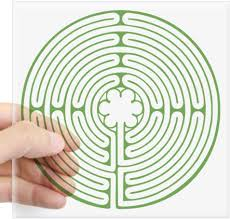 Amazon Com Cafepress Green Chartres Labyrinth Square Sticker 3 X 3 Square Bumper Sticker Car Decal 3 X3 Small Or 5 X5 Large Home Kitchen