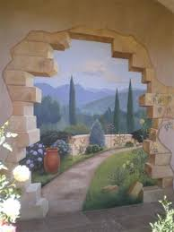 Trompe L Oeil Is It Real Or Is It Paint Exterior Murals Mural Wall Art Garden Mural