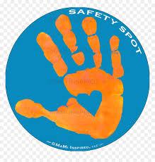 Safety Spot Orange Kids Hand Car Magnet Handprint Parking Handprint Decal For Toddler Safety Spot Hd Png Download Vhv