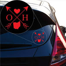 Ohio Love Cross Arrow State Oh Decal Sticker For Car Window Laptop An Yoonek Graphics