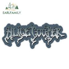Earlfamily 13cm X 5 4cm For Alice Cooper Sticker Decal Heavy Metal Vinyl Car Cover Rearview Mirror Bumper Decor Glue Sticker In Car Stickers From Automobiles Motorcycles On Aliexpress