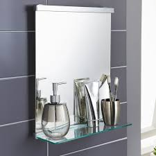 premium bathroom mirror with shelf