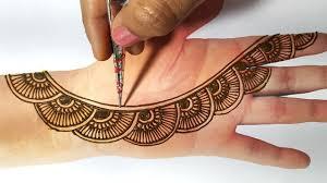 front hand easy simple mehndi design