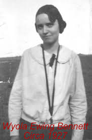 Wyola Myrtle Bennett (Ewing) (1907 - 1992) - Genealogy