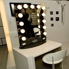 broadway lighted vanity mirror with