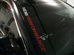 Hemi Performance Windshield Decal Fits Dodge Charger Challenger Ram 1500 2500 Ebay