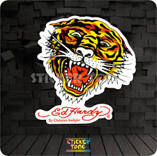 Ed Tiger Sticker Bike Skateboard Deck Notebook Laptop Car Wall Hardy Wall Nail Laptop Computewall Decor Dining Room Aliexpress