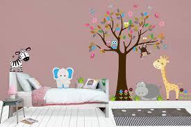 Animal Wall Decals Nursery Safari Theme Jungle Themed Nursery Deco Nurserydecals4you