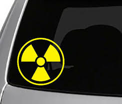 Nuclear Logo Decal Car Truck Window Laptop Toolbox Stickers Cool Radioactive Ebay