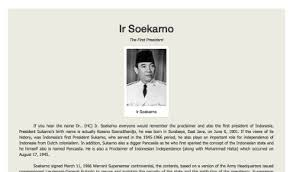 tribute page ir soekarno co