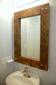 decorate with rustic mirror frames