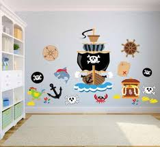Pirate Kids Bedroom Wall Stickers Kids Wall Decals Bedroom Etsy