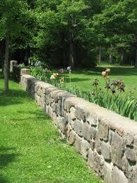 stone garden walls river bend