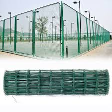 20m X 0 6m Rolls Green Pvc Coated Steel Mesh Fencing Wire Garden Galvanised Fence Border Decorative Fences