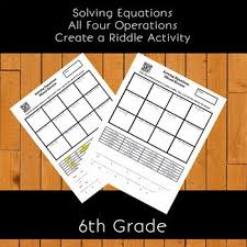 step equations create a riddle activity