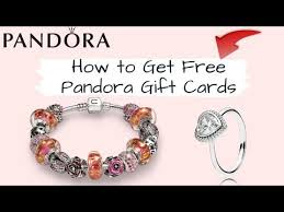 get free pandora jewelry gift cards