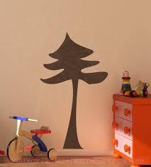Pine Tree Bedroom Wall Sticker Art Vinyl Decals Large Tree Wall Decor