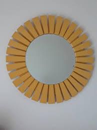 round wall mirror 27 pine wood round