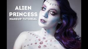 alien princess makeup tutorial in