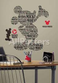 Mickey Friends Typography Mickey Mouse Peel Stick Giant Wall Decals Wall Decal Allposters Com