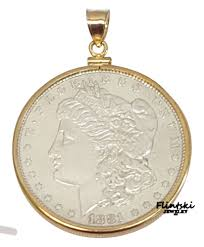 morgan silver dollar coin pendant 1