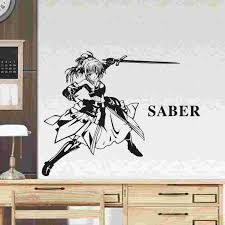 Fate Stay Night Wall Decal Vinyl Wall Stickers Decal Decor Home Decorative Decoration Anime Car Sticker Wall Stickers Aliexpress
