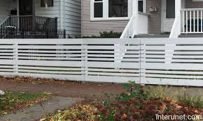 Horizontal Boards Semi Privacy Wood Fence Picture Interunet