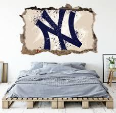 New York Yankees Wall Art Decal Mlb Baseball Team 3d Smashed Wall Decor Wl84 Ebay