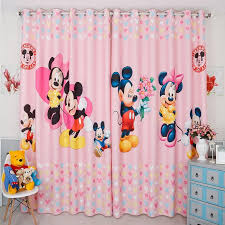 Custom Made 2x Window Drapery Curtain Nursery Kids Children Room Window Dressing Tulle 200cm X 260cm Minne Mickey Mouse Pink Curtain Door Curtain Home Decor Window Curtain At 188 80 221 80