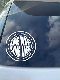 Line Wife Line Life Decal Linewife Decal Lineman Wife Decal Etsy