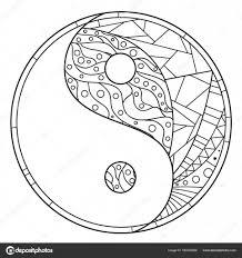 Yin En Yang Zentangle Stockvector C Mikabesfamilnaya 160203908