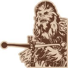 Chewbacca Decal Sticker 02fc