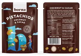 coconut cacao flavoured pistachios