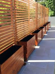 Wooden Fence Privacy Screen Stained Wood Privacy Screens With Built In Planters Wooden Privacy Screens Outdoors Privacy Fence Designs Backyard Privacy Backyard