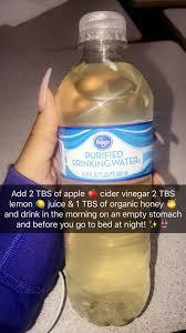 apple cider vinegar lemon and honey