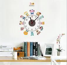 Cartoon Animals Wall Clocks Cartoon Sticker Large Decorative Wall Clocks Kids Bedroom Children Home Decor A2172c Large Metal Wall Clocks Large Modern Wall Clock From Hexiaofeng1216 11 48 Dhgate Com