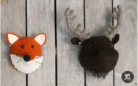 Mini Fox Head Wall Trophy By Fiona Walker Wall Decor For Kids Room