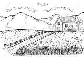 Vector Illustration Of Rural Landscape With Homeward Road Roadside Royalty Free Cliparts Vectors And Stock Illustration Image 124960248