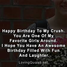 happy birthday to my crush love quotes sayings images