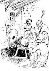 Kids N Fun Kleurplaat Bijbel Kerstverhaal De Herders In De Stal